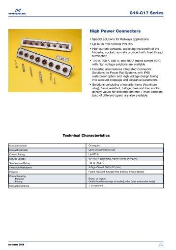 C16-C17 Series High Power Connectors - Hypertac