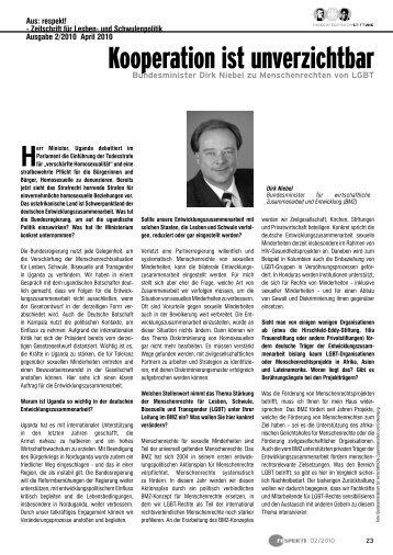 Kooperation ist unverzichtbar - Hirschfeld-Eddy-Stiftung
