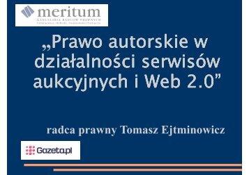 Prawo autorskie w serwisach aukcyjnych i Web 2.0