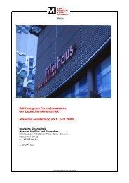 Eröffnung des Fernsehmuseums der Deutschen Kinemathek - osiris