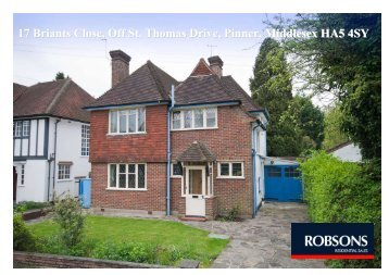 17 Briants Close, Off St. Thomas Drive, Pinner ... - Clarks Computers