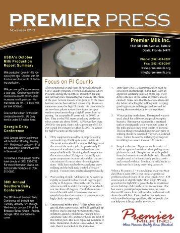 November - Premier Milk, Inc.