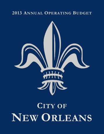 2013 Proposed Operating Budget - New Orleans City Council