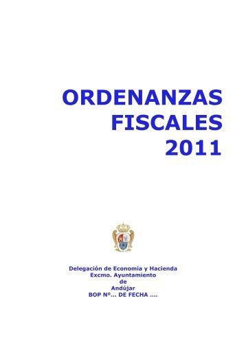 TEXTO ORDENANZAS 2011 - Ayuntamiento de Andújar