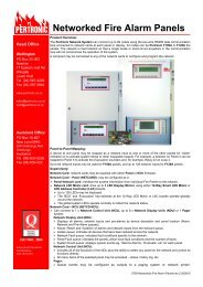 Networked Fire Alarm Panels - Pertronic Industries
