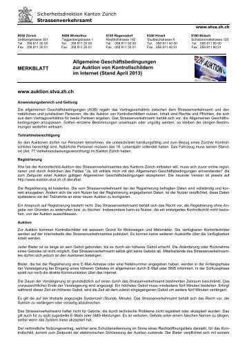 Die AGB als PDF Dokument - Strassenverkehrsamt des Kantons ...