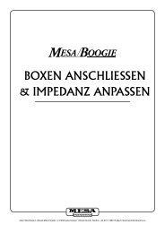 BOXEN ANSCHLIESSEN & IMPEDANZ ANPASSEN