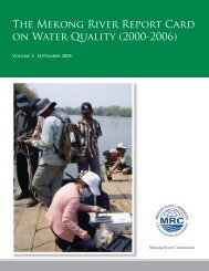 EP Report Card 2008.indd - Mekong River Commission