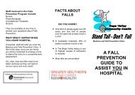 Balance and Falls Prevention Brochure for in-patients - ARCHI