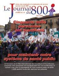 mai 2008 - Union des employés et employées de service - Locale 800