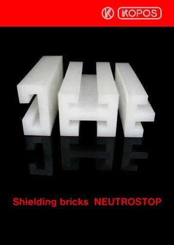 Shielding bricks NEUTROSTOP