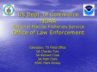 US Dept. of Commerce NOAA National Marine Fisheries Service ...