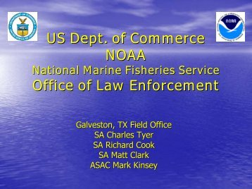 US Dept. of Commerce NOAA National Marine Fisheries Service ...