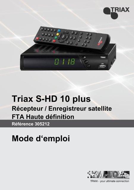 Notice S Hd10 Plus Triax