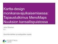 Kartta-design monikanavajulkaisemisessa / Juha Oksanen