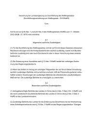 Durchführungsverordnung zum Waffengesetz - DVOWaffG