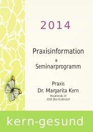 Seminarprogramm 2014 - kern-gesund.biz