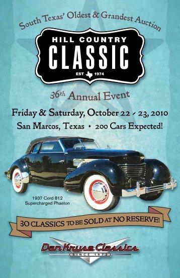Friday & Saturday, October 22 - 23, 2010 - Dan Kruse Classics