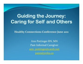 Guiding the Journey - solutions - east toronto's health collaborative