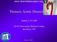 Thoracic Aortic Dissection - Department of Surgery at SUNY ...
