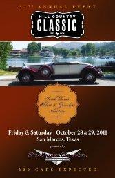 Friday & Saturday · October 28 &29, 2011 - Dan Kruse Classics