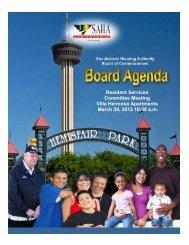 March 20, 2012 - San Antonio Housing Authority
