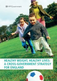Healthy weight, healthy lives: a cross-Government strategy for England