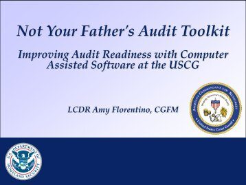 49. Not Your Father's Audit Toolkit - PDI 2012