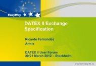 Datex II Exchange Specification