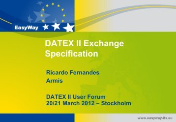 Datex II Exchange Specification