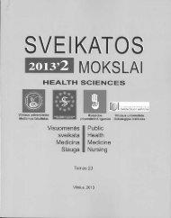 2013 m. leidinio Sveikatos mokslai 23 tome, Nr 2. Straipsnį galima ...