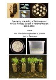 Spiring og etablering af feltforsøg med in vitro ... - Naturstyrelsen