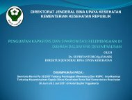 Bahan Presentasi Pak Dirjen.pdf - Kebijakan Kesehatan Indonesia
