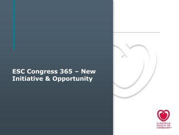 ESC Congress 365 initiative