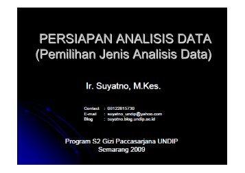 Persiapan Analisis Data