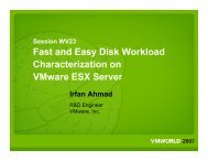 Fast and Easy Disk Workload Characterization on VMware ESX Server ...