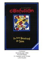 Confusion Ravensburger, 2000 HOLGER Martin 2 ... - Forum Mortsel