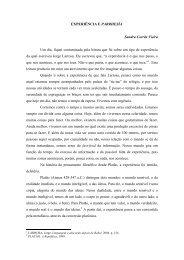 EXPERIÊNCIA E PARRHESÍA Sandra Corrêa Vieira Um dia, fiquei ...