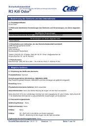 R3 Kill Odor - CEBE Reinigungschemie GmbH