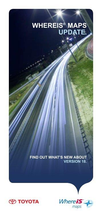WHEREIS® MAPS UPDATE. - Toyota