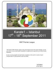 Karate1 - [Name of host city] - Karate Canada