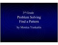 Problem Solving Find a Pattern