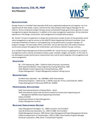 View Resume - Value Management Strategies, Inc.
