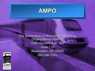 AMPO - New York State Association of Metropolitan Planning ...