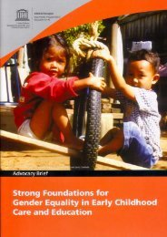 Strong Foundations for Gender Equality in Early Childhood Care ...