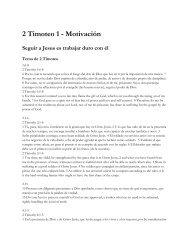 2 Timoteo 1 - Motivación Seguir a Jesus es trabajar ... - PazConDios