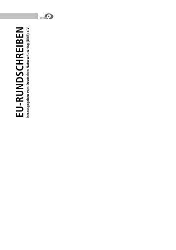 EU-RUND SCHREIBEN - Der Deutsche Naturschutzring - beim DNR