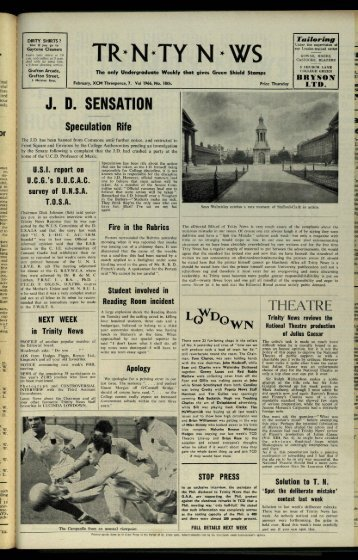 o - Trinity News Archive