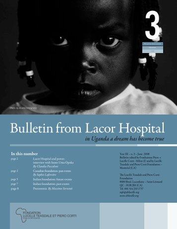June (Bulletin-from-Lacor-Hospital-2008-3.pdf) - Fondazione Corti