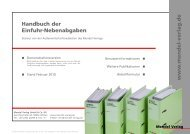 Demo Handbuch der Einfuhrnebenabgaben